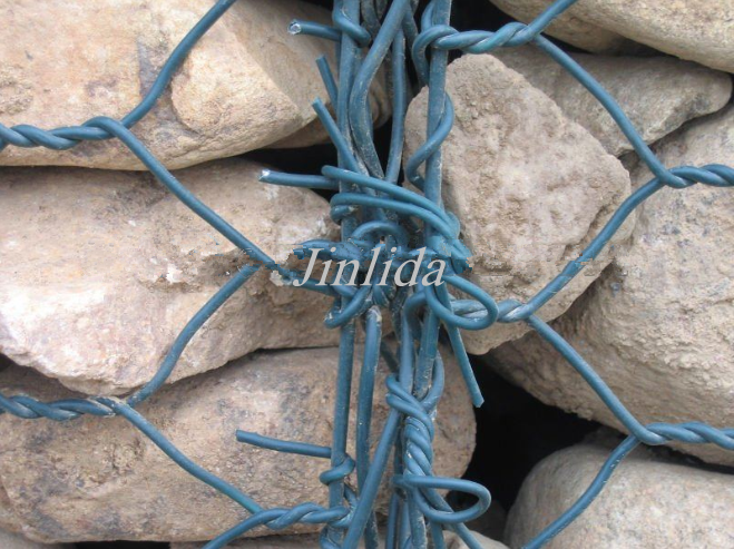Wide Variety PVC Coated Gabion Boxes With Low Carbon Hot Dipped