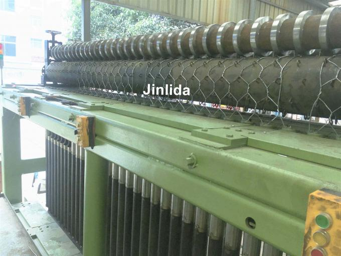 3.2mm Wire Gabion Mesh Machine 80x100mm Adjustable Double or Three Twist