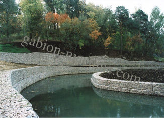 Galvanised Steel Mesh Gabion Basket , Lake Shore Protection Or Railway