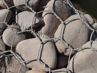 Hexagonal Wire Mesh Gabion Wire Mesh , 0.5mm Thickness Of Pvc Coating