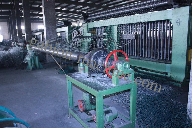 Galvanised Double Twist Gabion Machine With Wire Mesh Hexagonal Wire ...